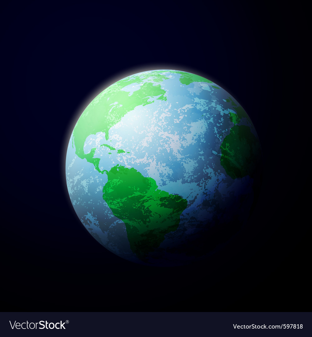 Earth from space vector | Price: 3 Credit (USD $3)