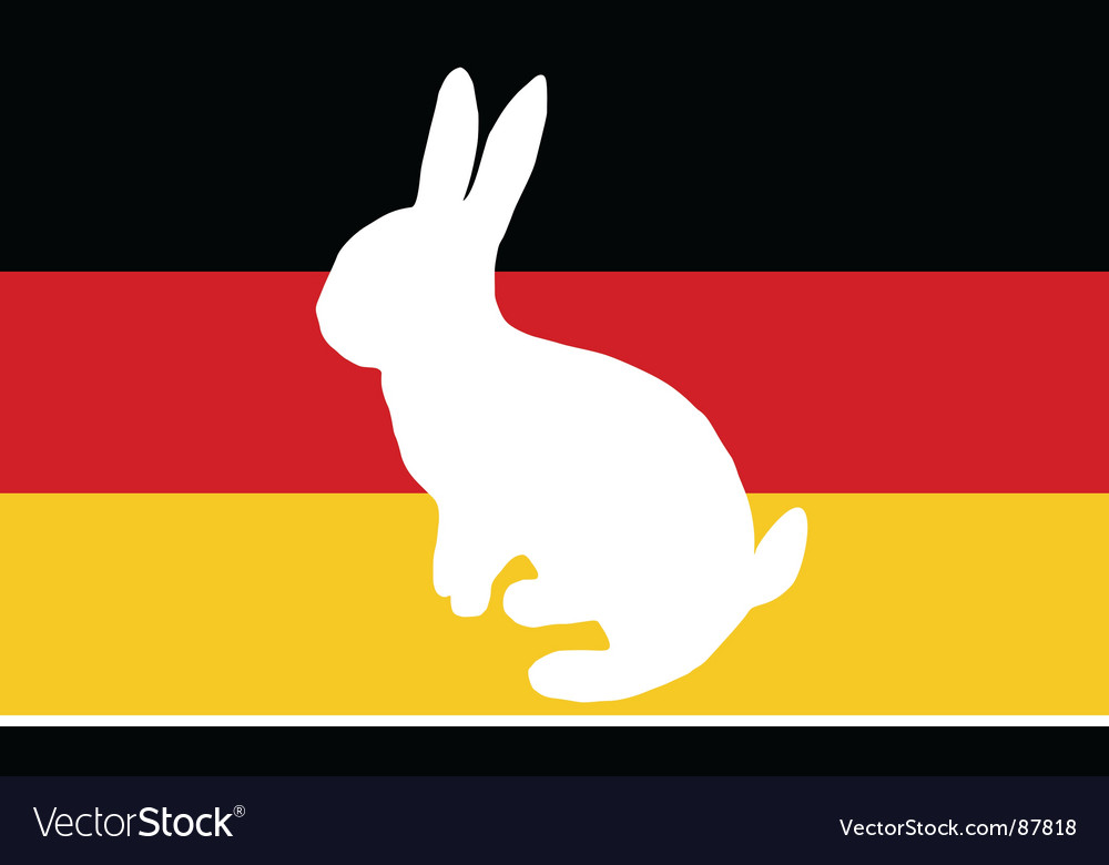 Flag of germany with easter bunny vector | Price: 1 Credit (USD $1)