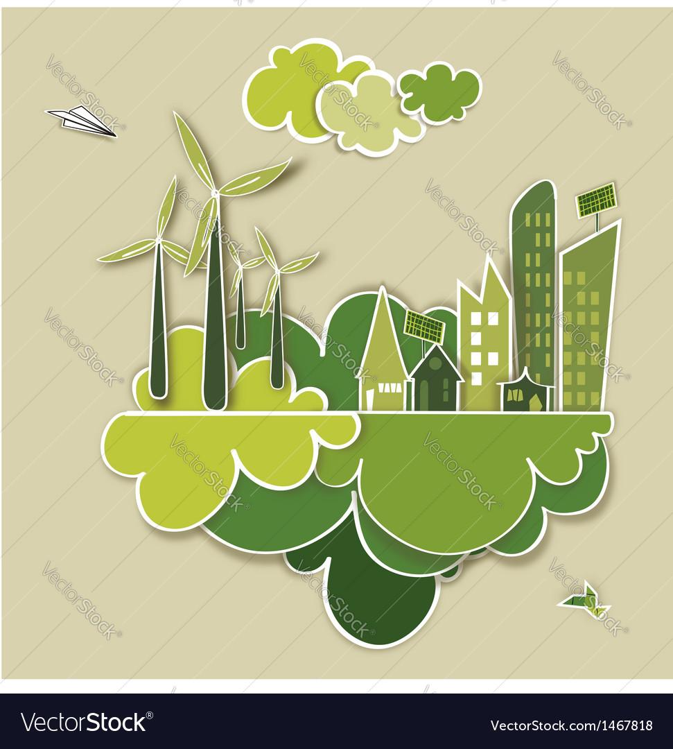 Go green concept city vector   Price: 1 Credit (USD $1)