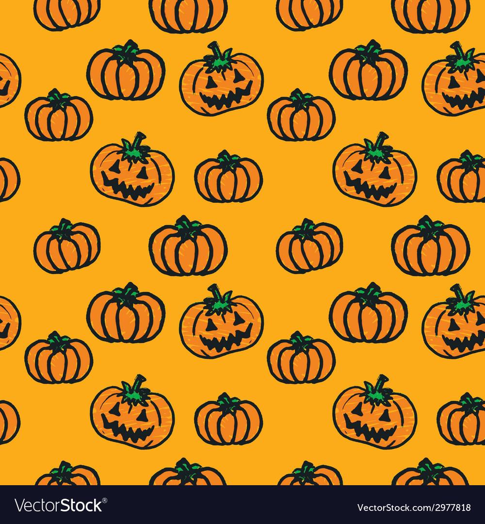Hand-drawn halloween pumpkins vector | Price: 1 Credit (USD $1)