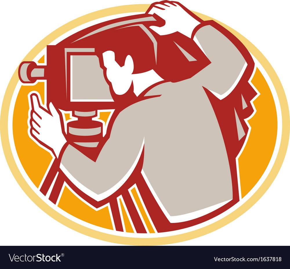 Photographer vintage camera rear retro vector | Price: 1 Credit (USD $1)