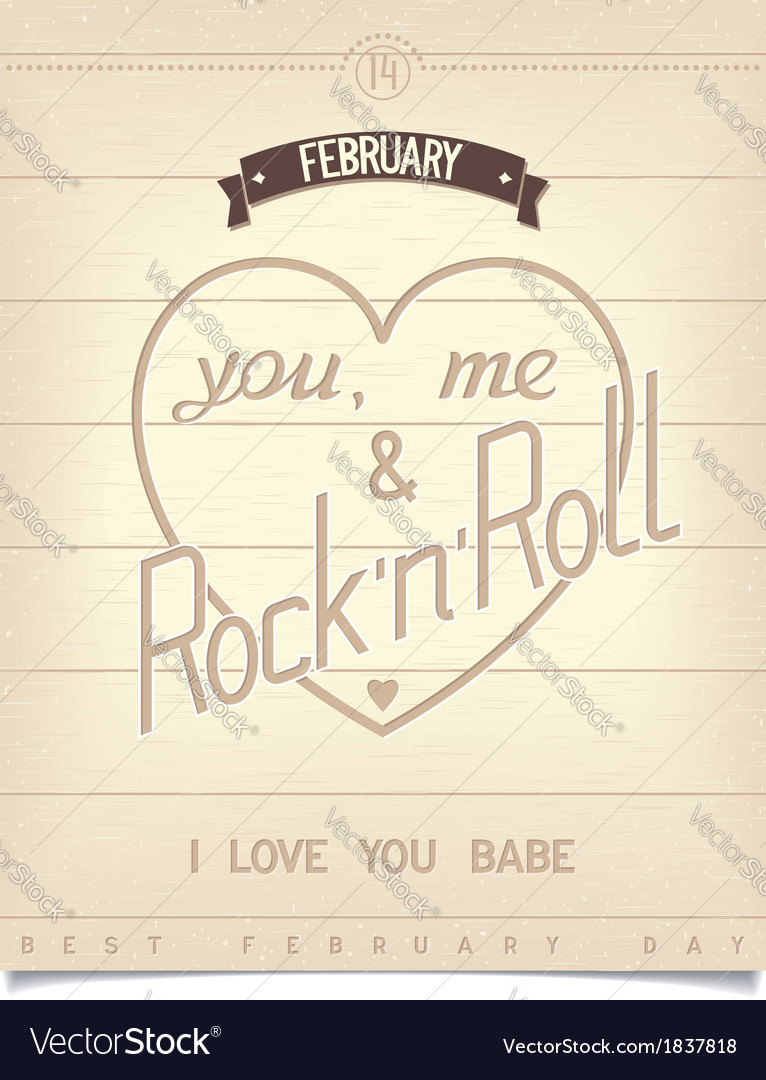 Poster with quote for valentines day vector | Price: 1 Credit (USD $1)