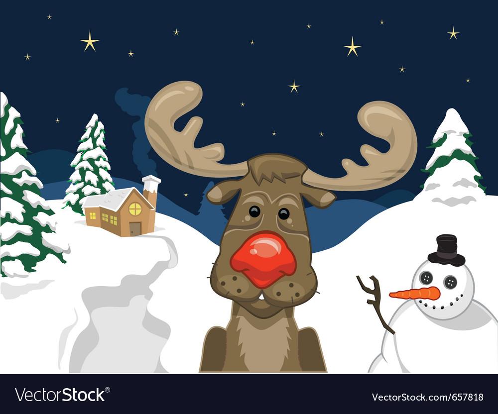 Red nose deer vector | Price: 3 Credit (USD $3)