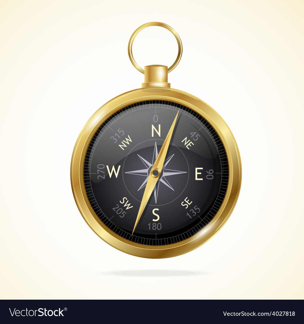 Retro style metal compass vector | Price: 1 Credit (USD $1)