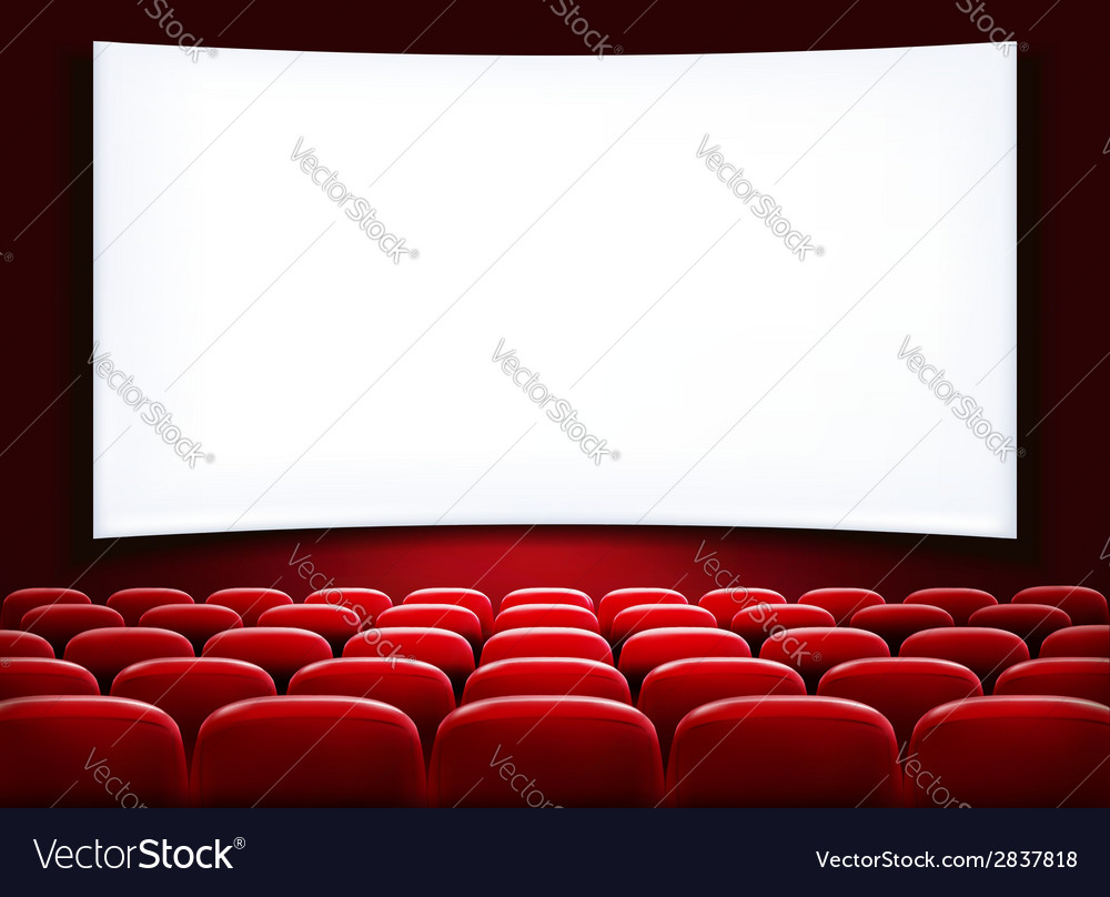 Rows of red cinema or theater seats in front of vector | Price: 1 Credit (USD $1)