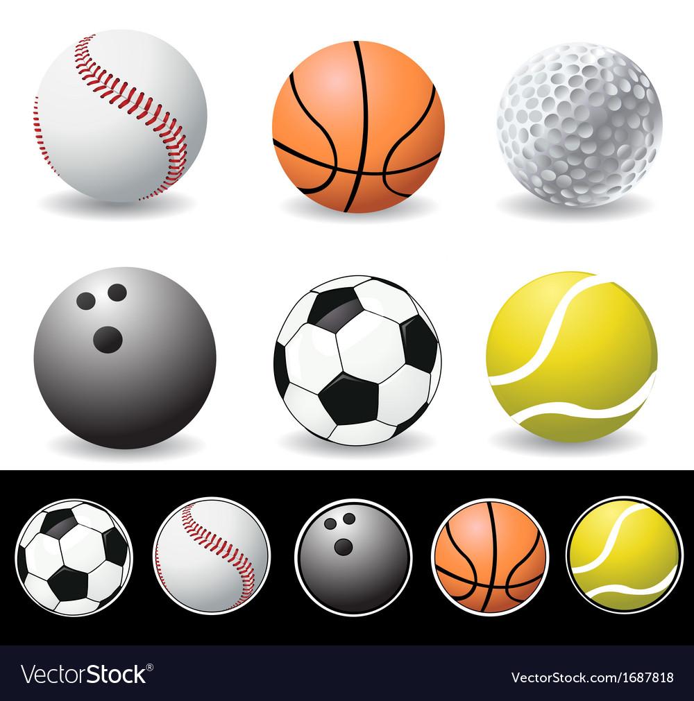 Set of balls vector