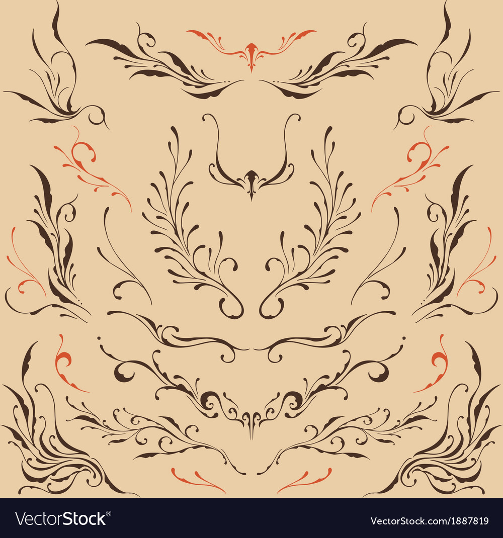 Floral ornaments vector | Price: 1 Credit (USD $1)