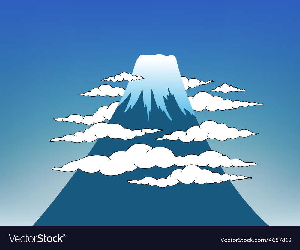 Fuji mountain vector | Price: 1 Credit (USD $1)