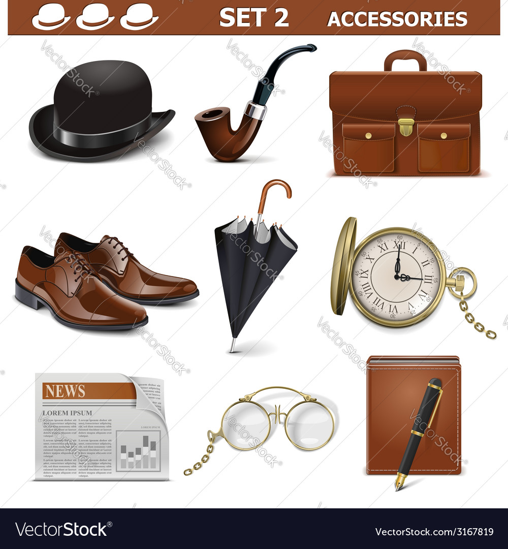 Male accessories set 2 vector | Price: 3 Credit (USD $3)