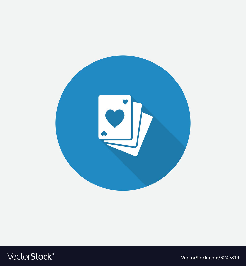 Poker flat blue simple icon with long shadow vector | Price: 1 Credit (USD $1)