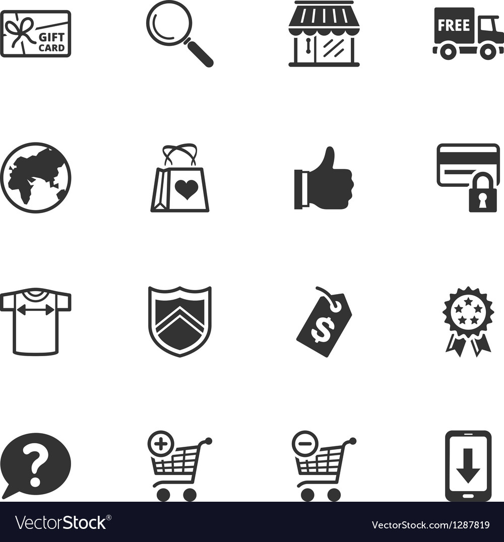 Shopping and e-commerce icons - set 2 vector | Price: 1 Credit (USD $1)