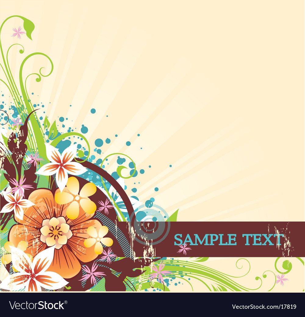 Spring flowers vector | Price: 1 Credit (USD $1)