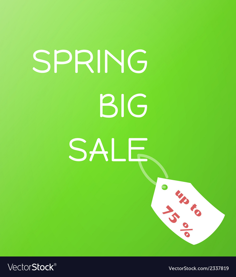 Spring sale green gradient background vector | Price: 1 Credit (USD $1)