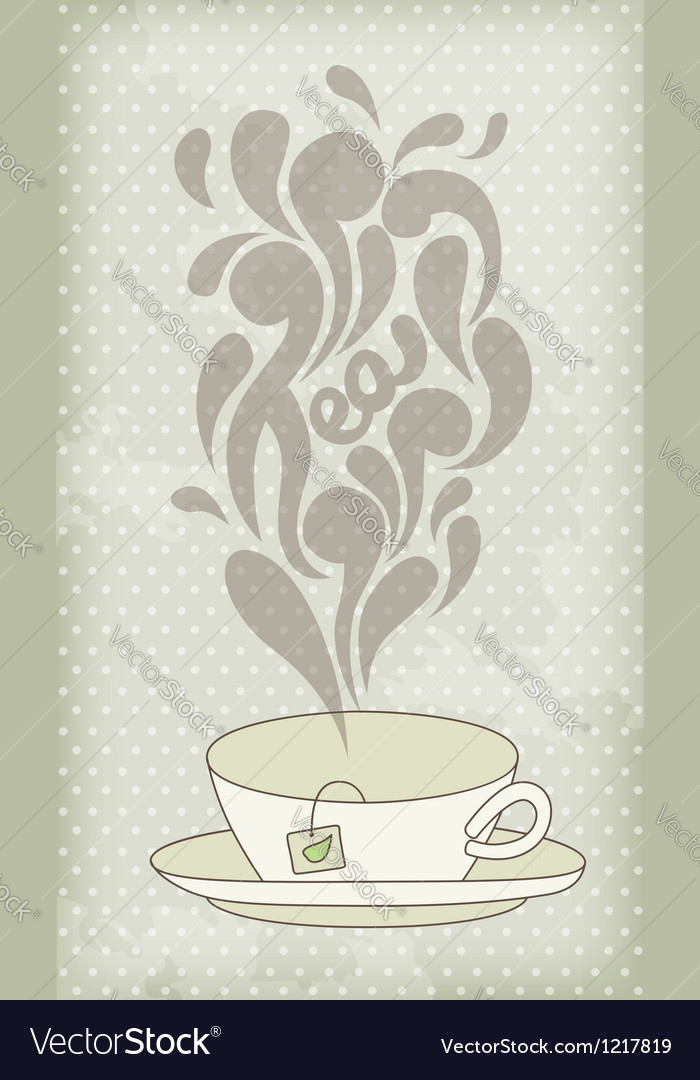 Steaming hot tea vector | Price: 1 Credit (USD $1)