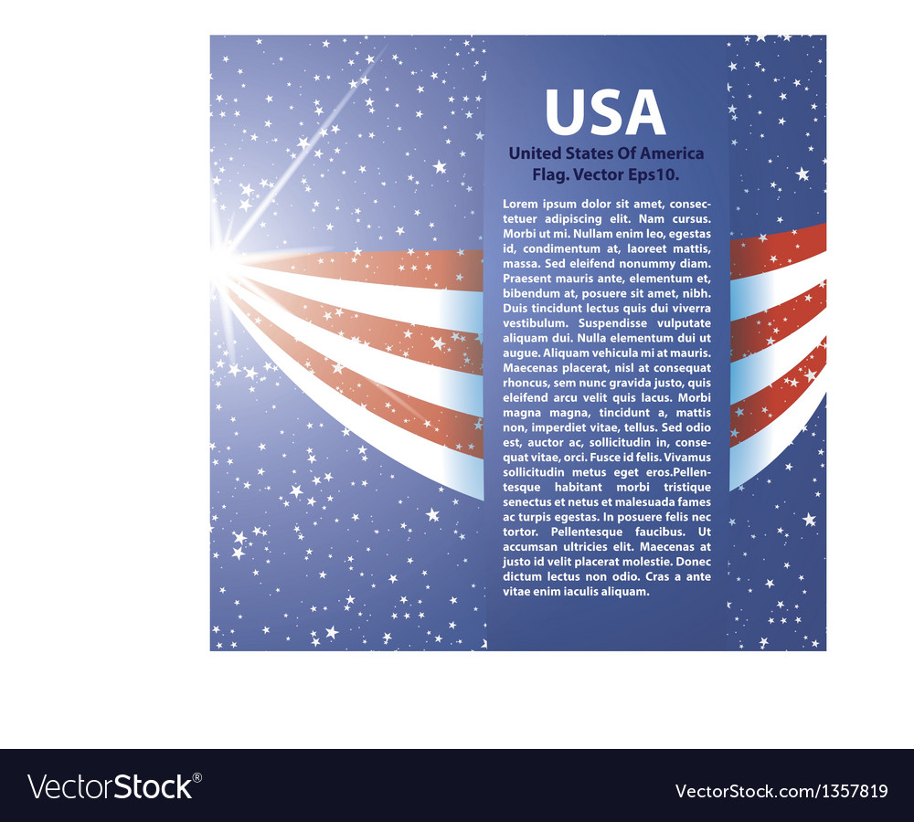 United states of america flag background usa vector | Price: 1 Credit (USD $1)