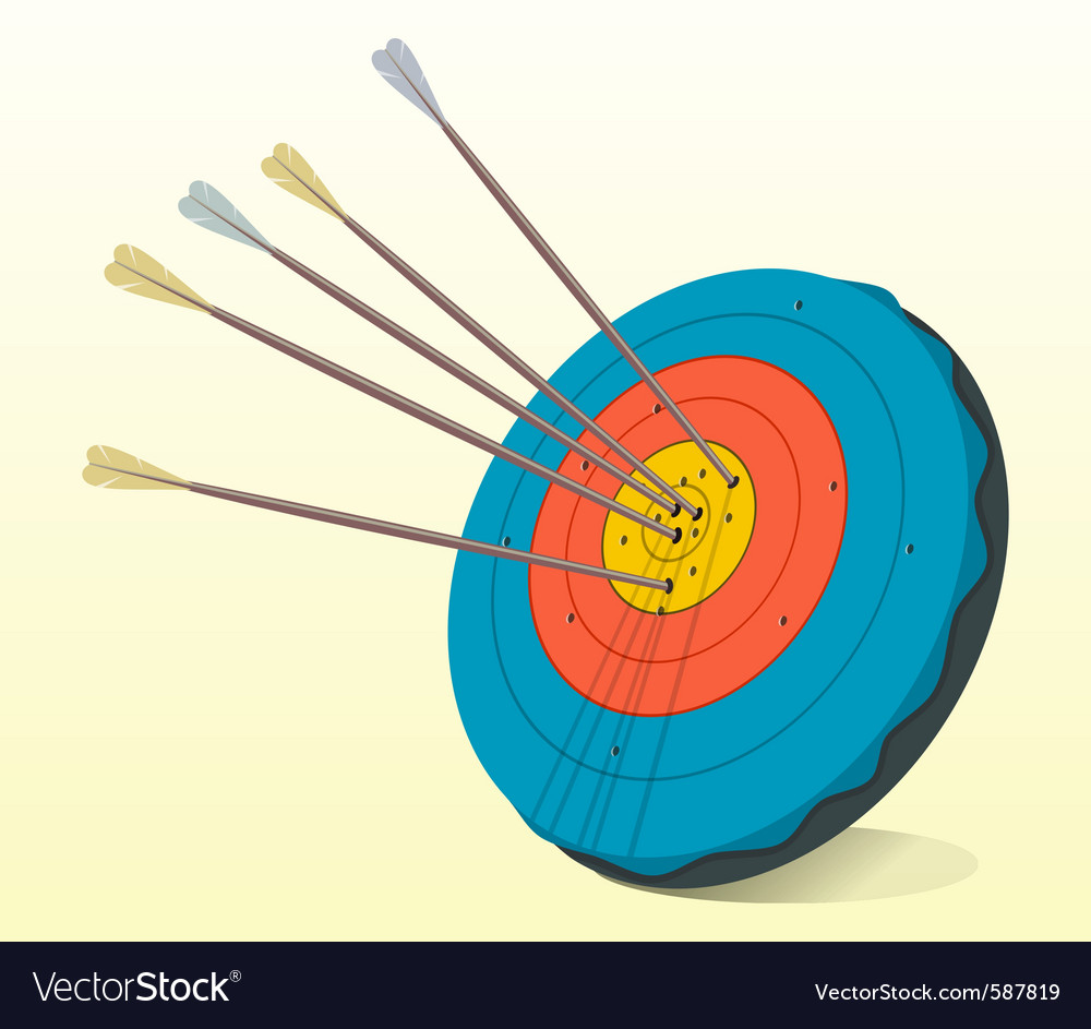 Vintage target and arrows vector   Price: 1 Credit (USD $1)