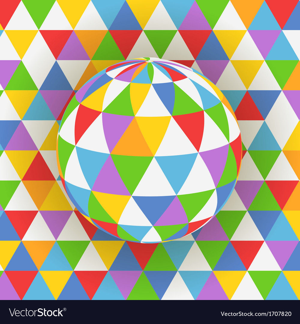 Abstract background of colorful pattern on sphere vector | Price: 1 Credit (USD $1)