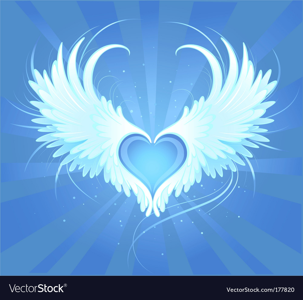 Angels heart vector