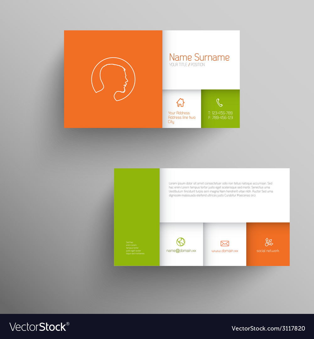 Modern business card template with flat mobile vector | Price: 1 Credit (USD $1)