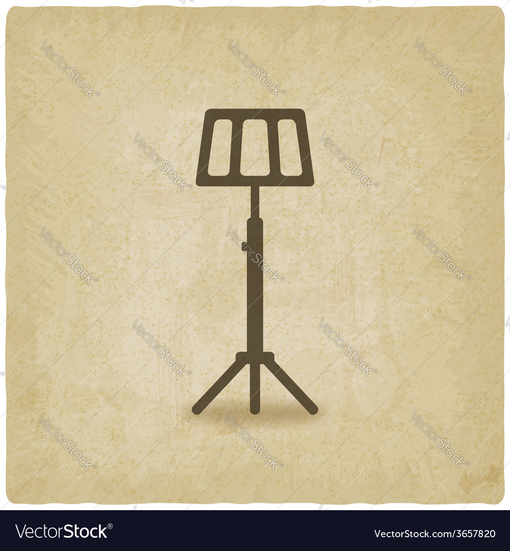Music stand old background vector | Price: 1 Credit (USD $1)