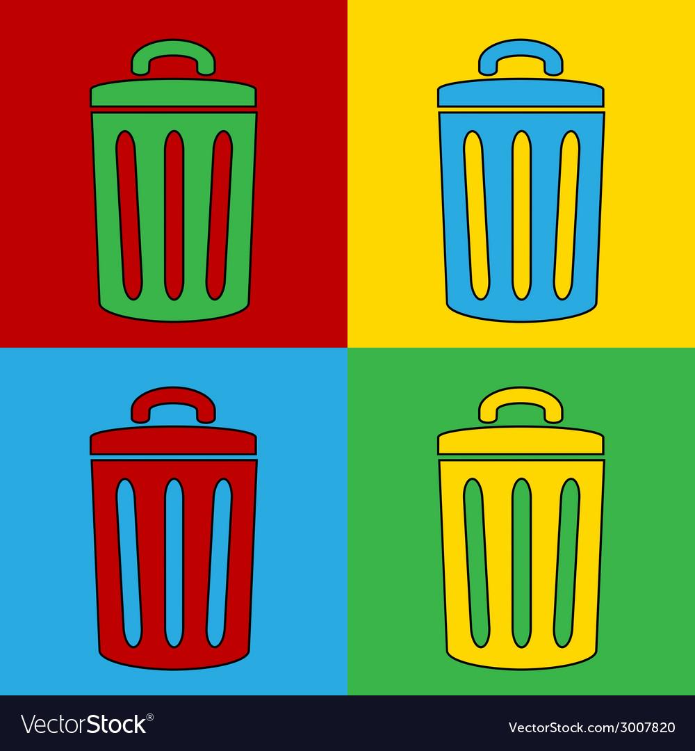 Pop art garbage vector | Price: 1 Credit (USD $1)