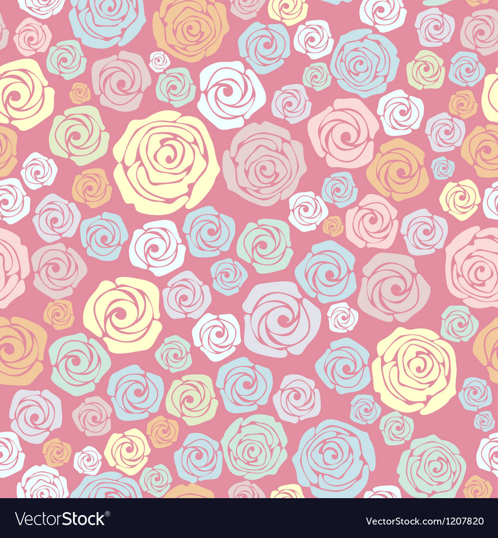 Rose seamless pattern vector | Price: 1 Credit (USD $1)