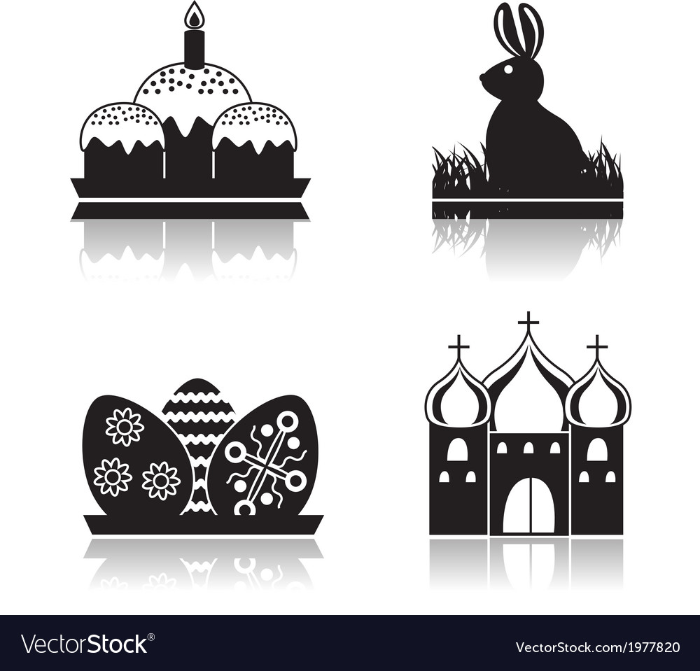Set of easter icons vector | Price: 1 Credit (USD $1)