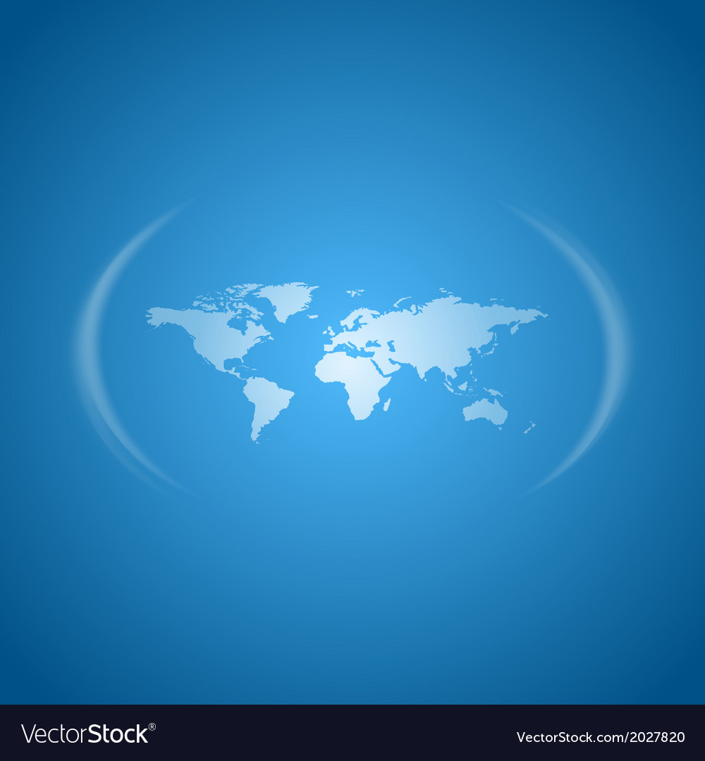 World map blue vector | Price: 1 Credit (USD $1)