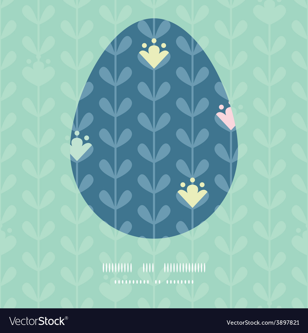 Blloming vines stripes easter egg vector | Price: 1 Credit (USD $1)