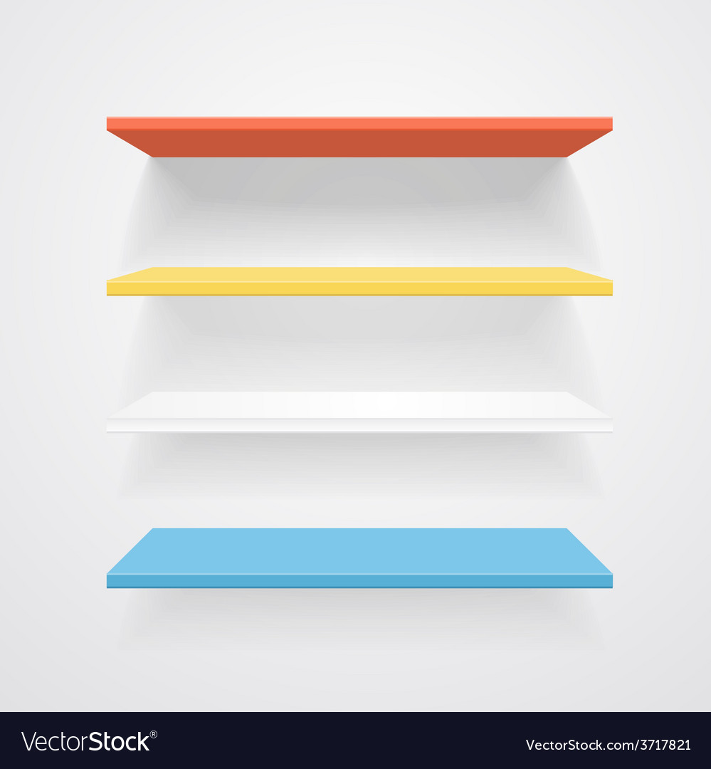 Color shelves vector | Price: 1 Credit (USD $1)