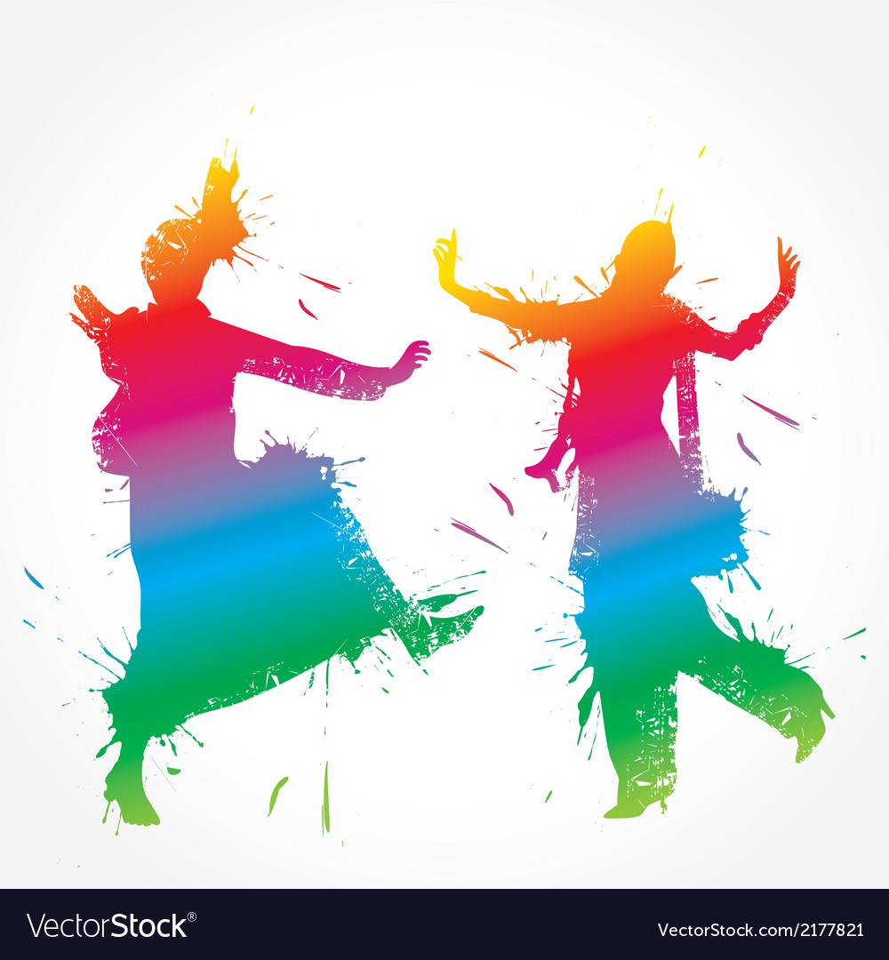 Colorful bhangra and gidda dancer vector | Price: 1 Credit (USD $1)