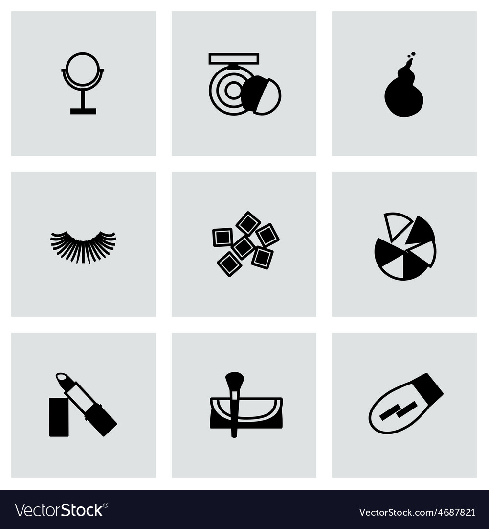 Cosmetics icon set vector | Price: 1 Credit (USD $1)