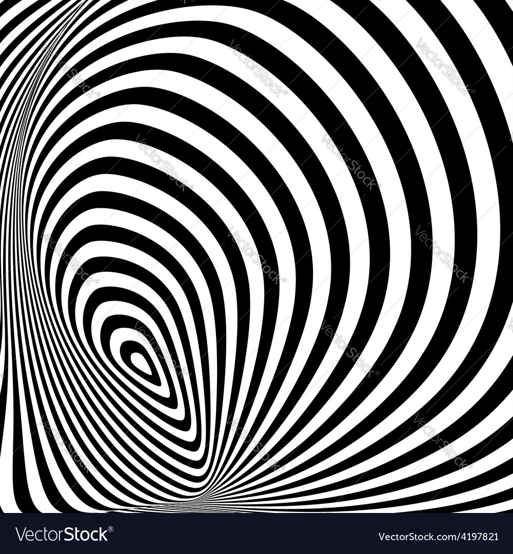Design monochrome whirlpool movement background vector | Price: 1 Credit (USD $1)