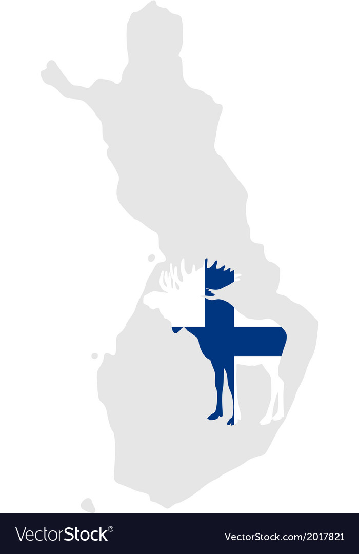 Finnish moose vector | Price: 1 Credit (USD $1)