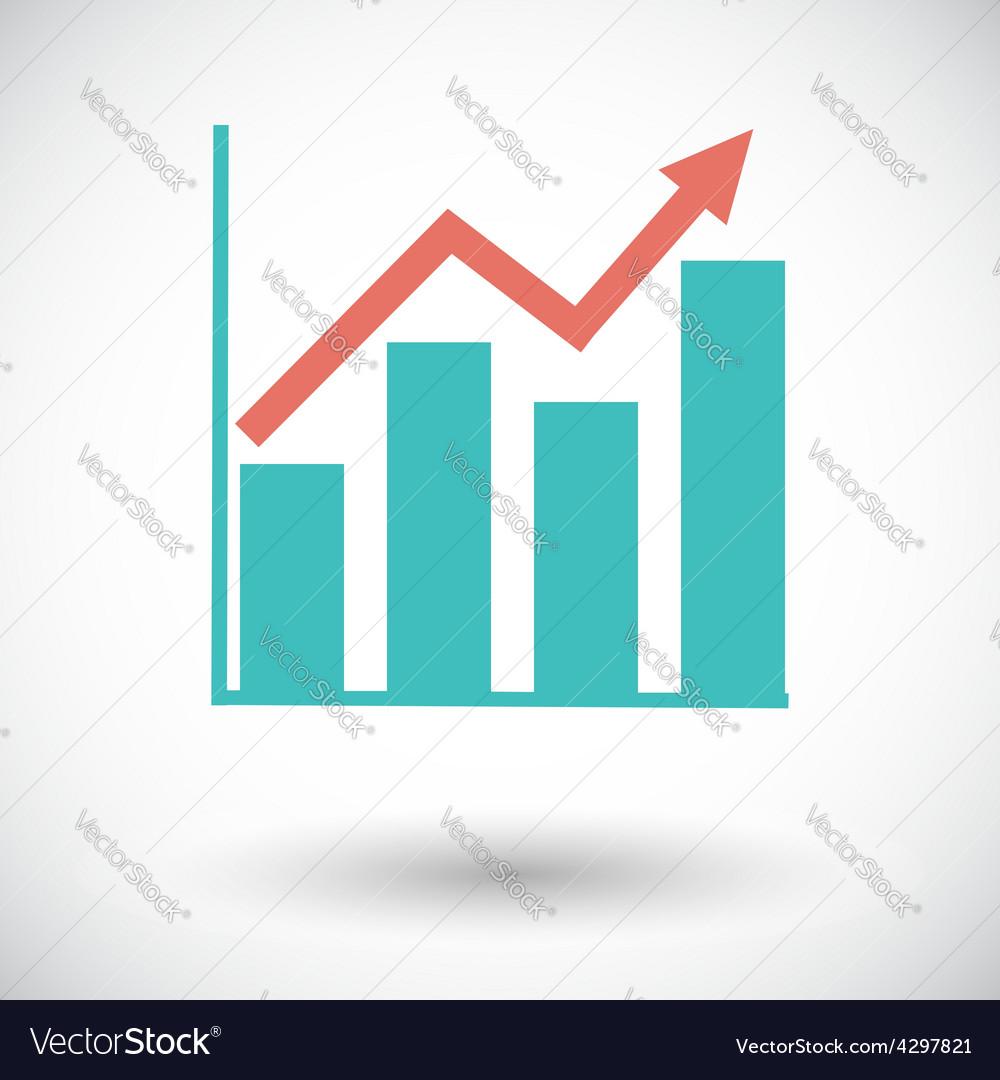 Graph flat single icon vector   Price: 1 Credit (USD $1)