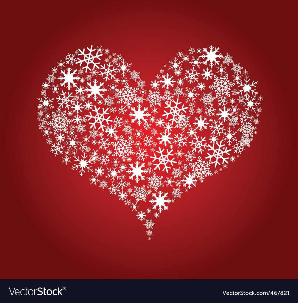 Heart snowflakes vector | Price: 1 Credit (USD $1)