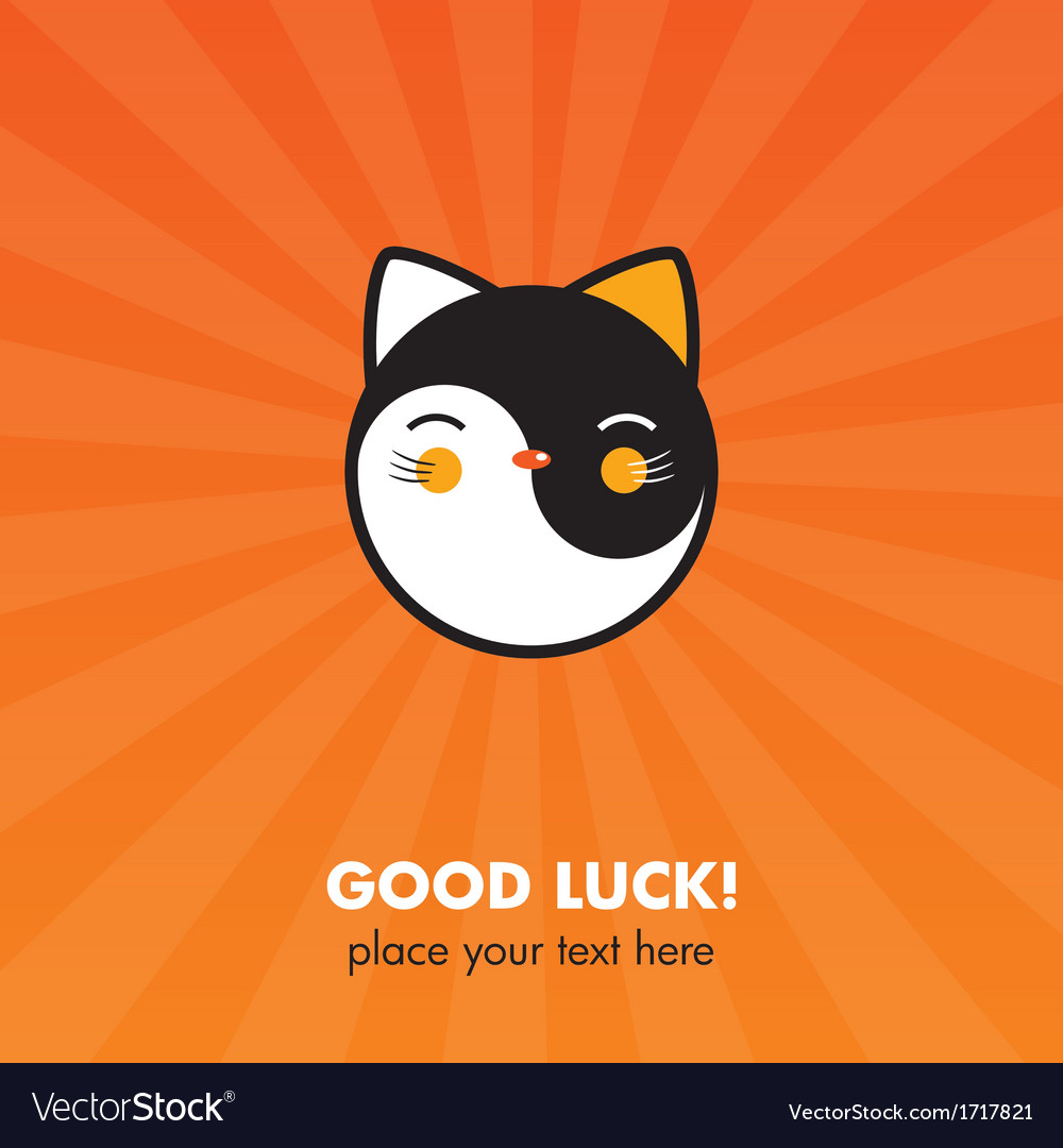 Lucky cat card vector   Price: 1 Credit (USD $1)