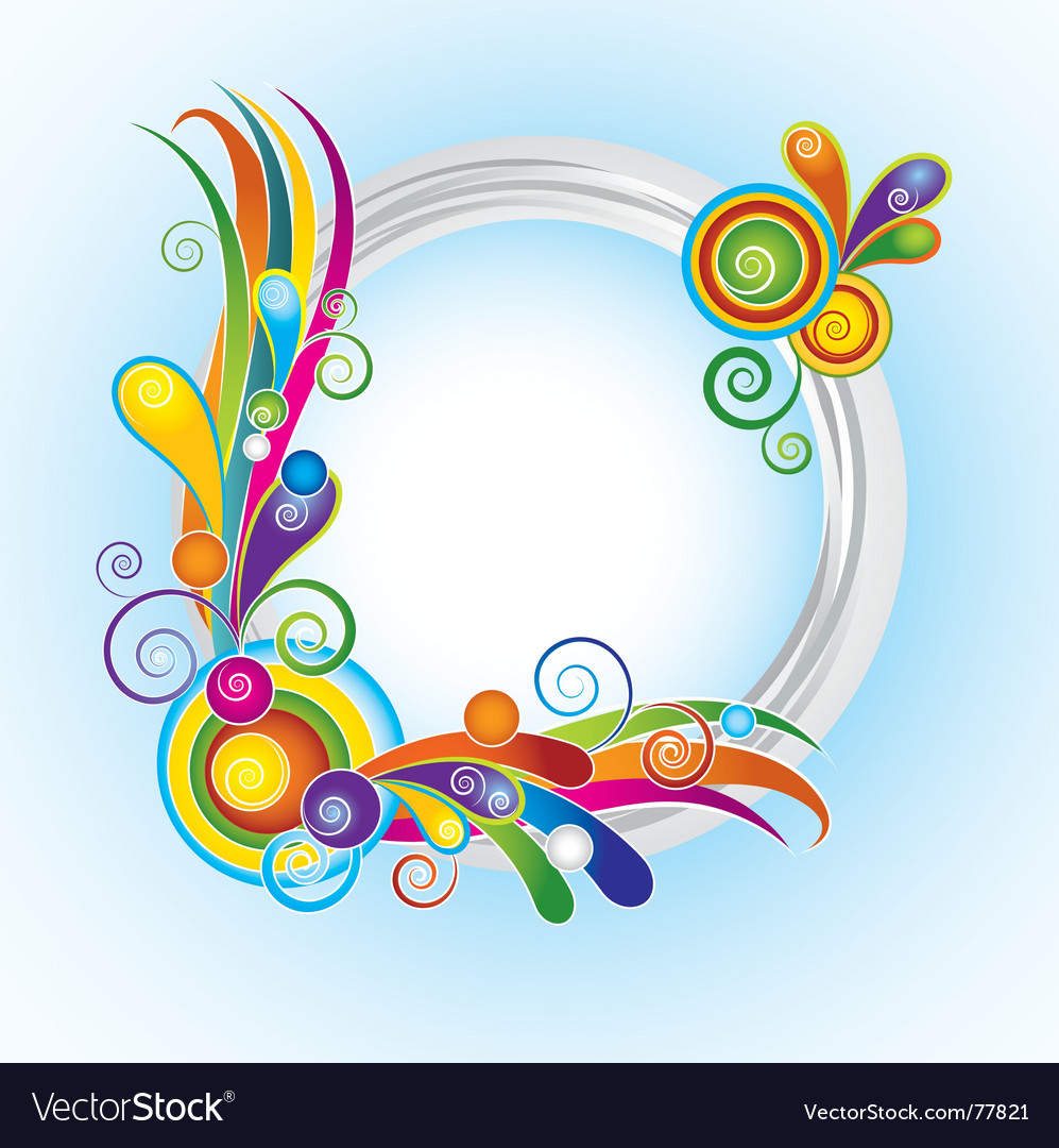 Multicolor ring frame vector | Price: 1 Credit (USD $1)