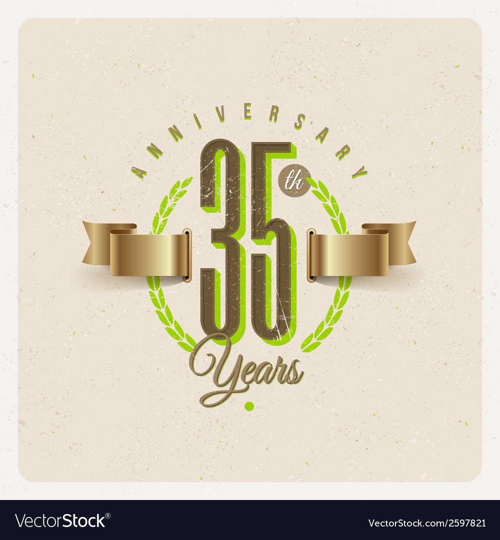 Vintage anniversary type emblem vector   Price: 1 Credit (USD $1)