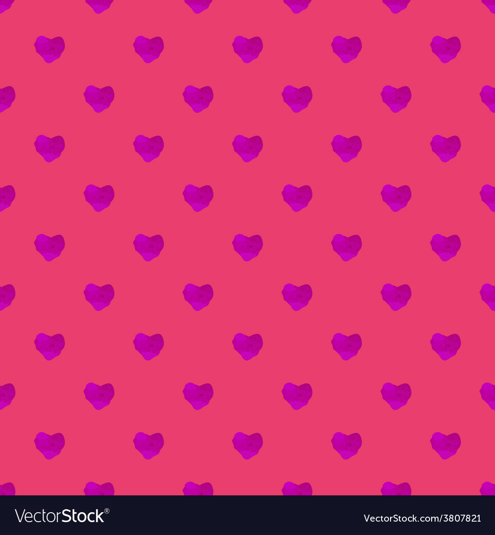 Watercolor seamless pattern with hearts vector | Price: 1 Credit (USD $1)