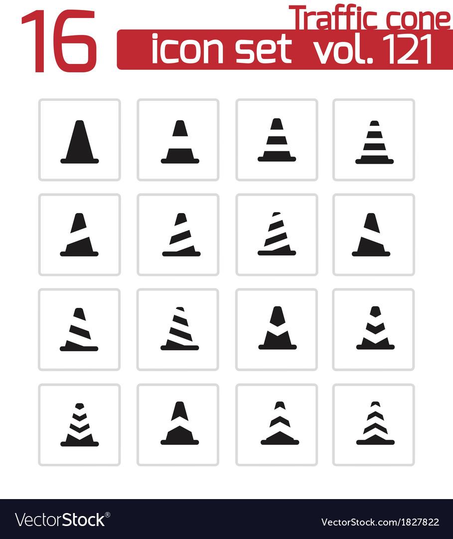 Black traffic cone icons set vector   Price: 1 Credit (USD $1)