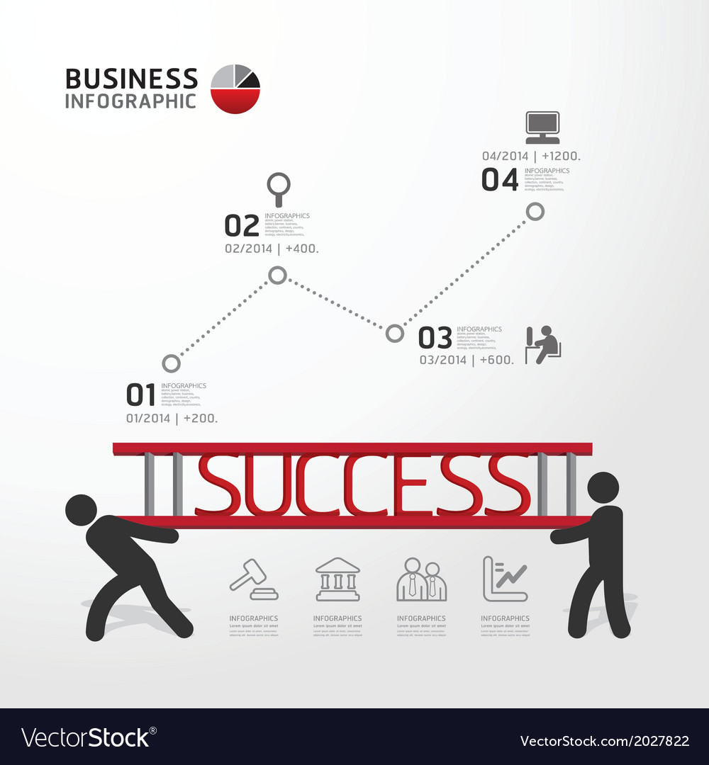 Business infographic carrying ladder concept vector | Price: 1 Credit (USD $1)