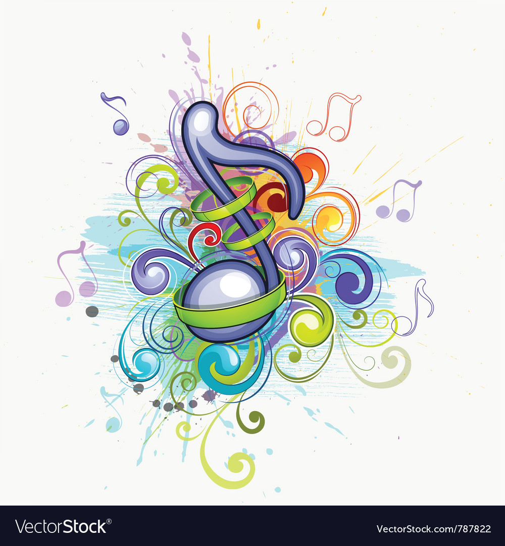 Colorful music notes vector | Price: 1 Credit (USD $1)