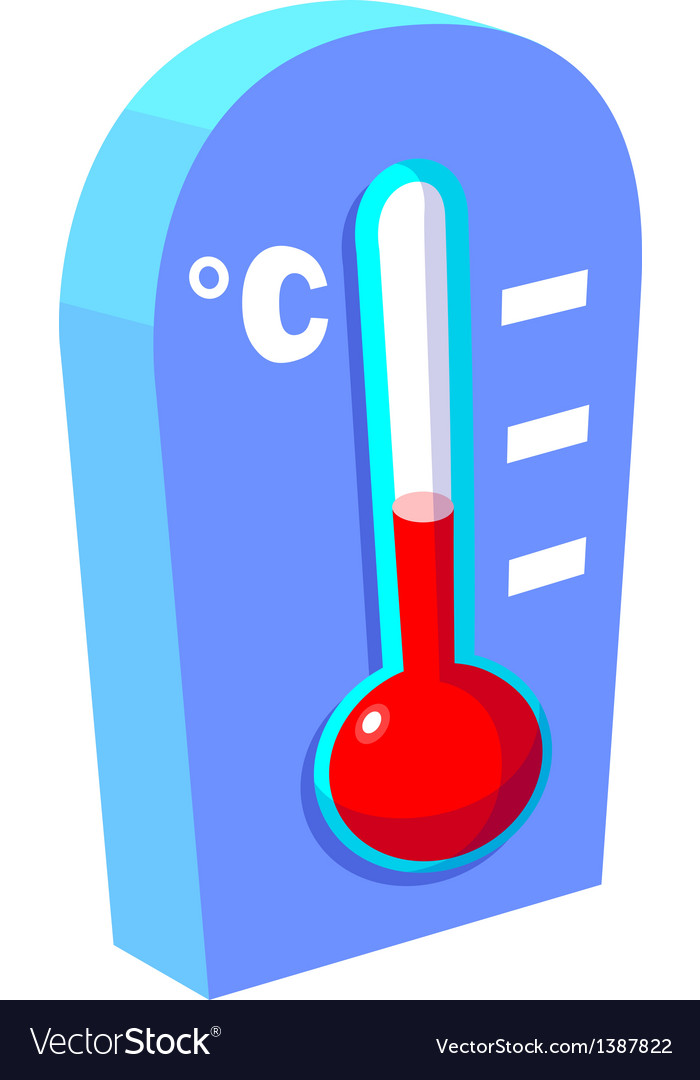Icon thermometer vector | Price: 1 Credit (USD $1)