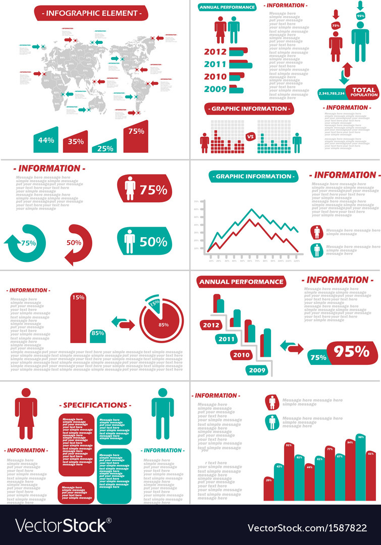 Infographic demographics new style vector | Price: 1 Credit (USD $1)