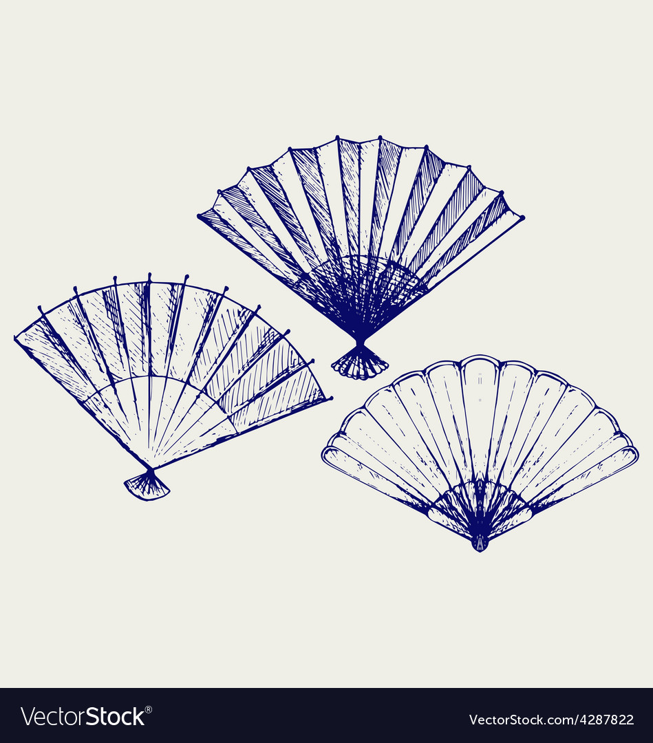Japanese folding fan vector | Price: 1 Credit (USD $1)