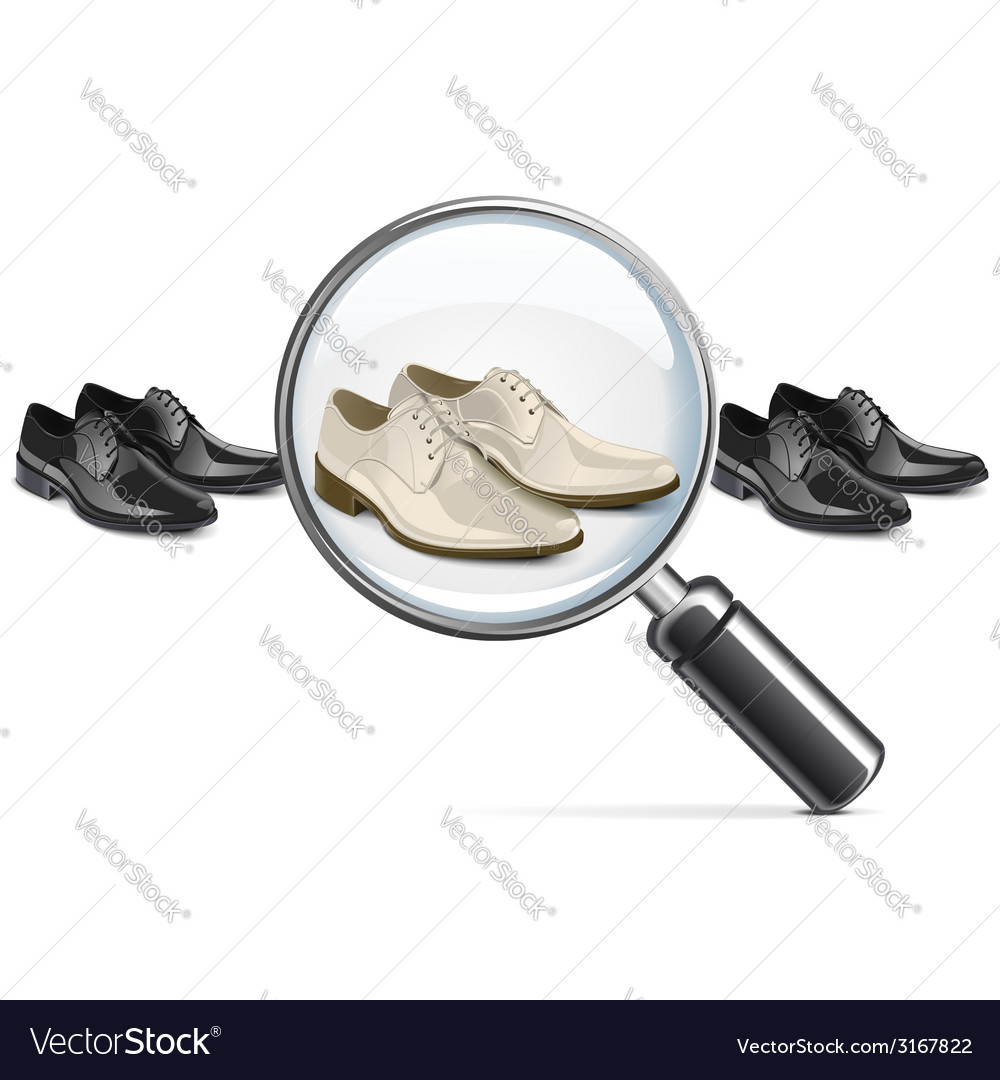 Male shoes with lens vector