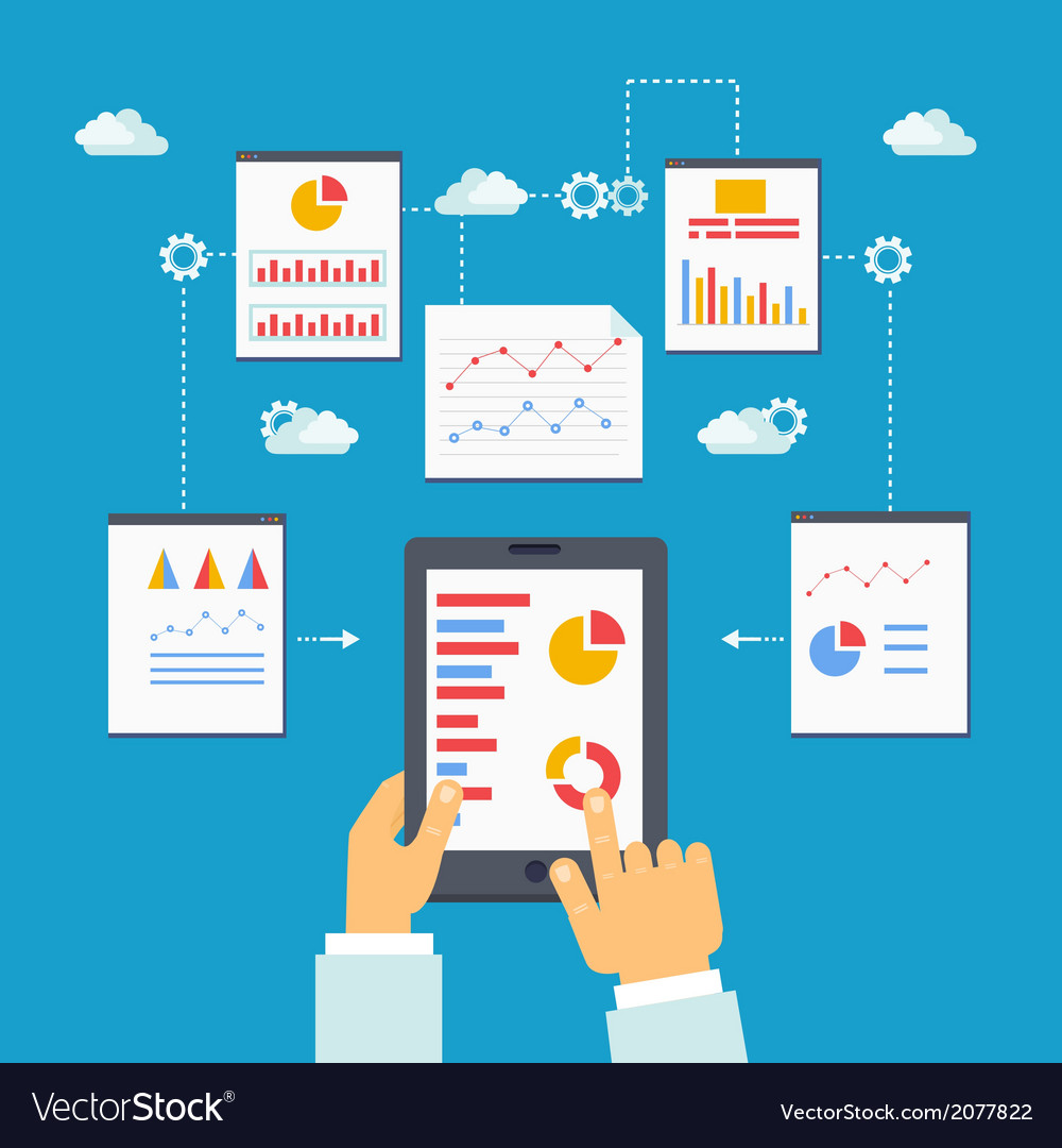 Mobile optimization and analytics vector   Price: 1 Credit (USD $1)