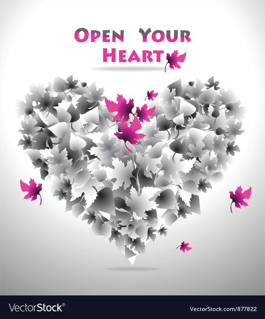 Open your heart vector | Price: 1 Credit (USD $1)