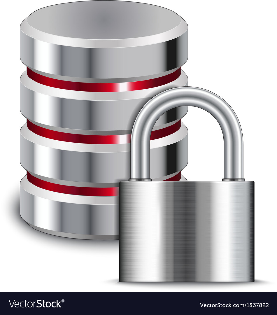 Padlock protects database vector | Price: 1 Credit (USD $1)